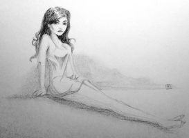 Nighttime #art #sketch #pinup by SylvanCreatures