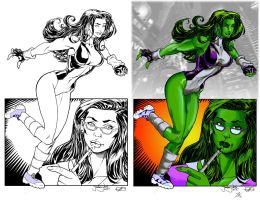 She Hulk of the Avengers - Colored Page by LucasKnight