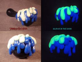 Blue Ooze Cobalt Pipe By Undead Ed Glows in the Da by Undead-Art