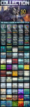 50 Metal Text Effects BUNDLE V2 by Elicabe at Grap by fluctuemos