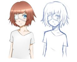 Finished drawing vs. Sketch by Suteki-Hana