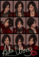 9 Faces Photo-shoot - Ada Wong by xTh13teeNx