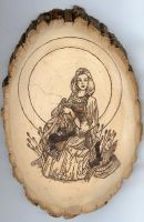 Sif Woodburning by EihwazCraftwork