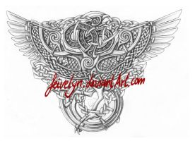 Celtic Phoenix Shaded by Feivelyn