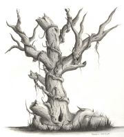 Dead Tree Pencil by fatherofkiera