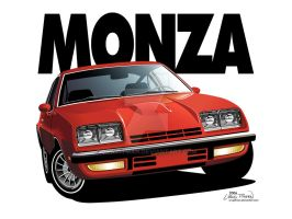 1976 Chevrolet Monza Vector by CRWPitman