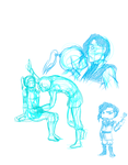Legend of Korra: Tahnorra Doodles 2 by SractheNinja