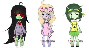 Adoptable batch 2# Zombie girls [CLOSED] by LushiAdopts