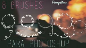 8 Brushes dianeyeditions para photoshop by Dianeyeditions