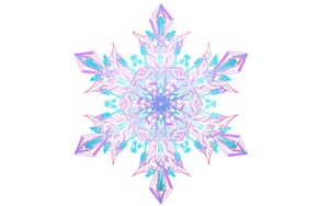 Snowflake Made in ArtRage by pixelthellama