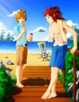 Axel and Roxas - Just Hanging Out by Exiled-Artist