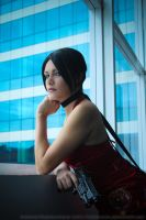 Ada Wong at the window by Karim-sama