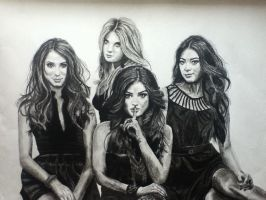 Pretty Little Liars Charcoal by Art-is-passion04