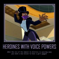 Heroines with voice powers by Hypercat-Z