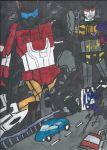 Superion vs Menasor: Heavy Traffic by GoroKai