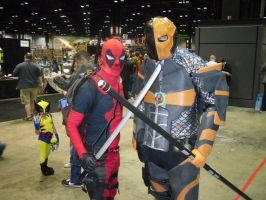 DEADPOOL and Deathstroke by Darth-Slayer