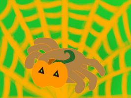Squirm the Pumpkin spider by tacoroach