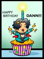 Happy Birthday Dann by ChibiCelina