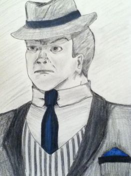Gangster Drawing by Kg2124