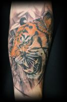 tiger tattoo 1 by rafaelserrano