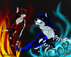 RallieXZero, Love of Water and Fire by Rallie-Redwolf