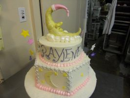 bed time baby shower cake by panda-odono