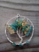 Aquamarine Aventrine and Citrine Tree of Life by WyckedDreamsDesigns