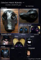 Fursuit Mask BASE - NO LONGER AVAILABLE - SEE DESC by SaltyPuppy