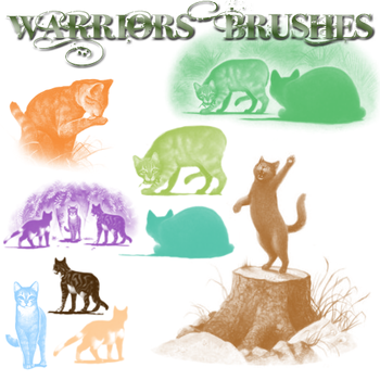 xx Warrior Brushes 1 by TheMoonfall