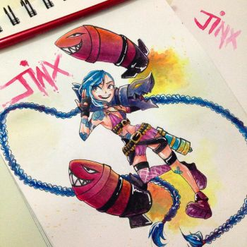 LoL - Jinx The Loose Canon by RynSama