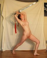 Nude With Sword 1 by chamberstock