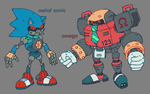 Metal Sonic and Omega by brotoad
