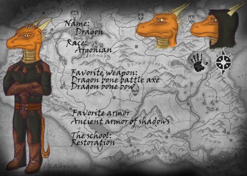 My character in TES:SkyRim. by IDragon52I