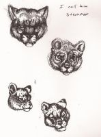 Ink cat heads by fenrirhound