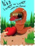 Worm eat Worm by VickiBeWicked