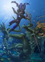 Underwater Battle by kevinTUT by ThorsAssassin
