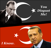 Ataturk Vs. Erdogan by RedAmerican1945