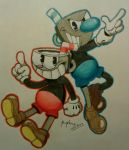 Cuphead and Mugman by Proplexus