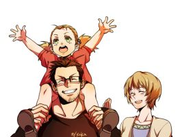 Hughes family by redsaka