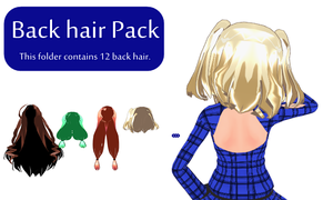 MMD Back hair Pack Download by 9844