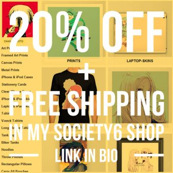20% Off + Free Shipping on Everything @ Society6 by lita426t