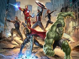 Avengers - Fight As One by weedlover1