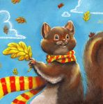 Squirrel Card by WinterImp