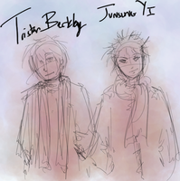 TRISTAN and JUNSUNG by hugfiend