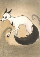 Ghost fox- ACEO by FoxInShadow