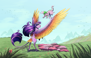 Collab: I'll Catch You, Spike! by DarkFlame75