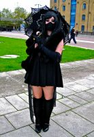 Girl in black with umbrella by ZeroKing2015