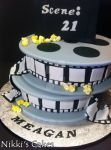 Movie Reel Cake Detail by Corpse-Queen