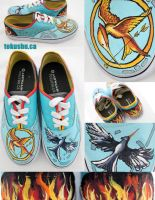 Hunger Games Shoes by artsyfartsyness
