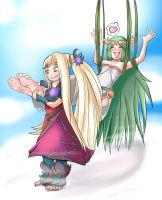 Com: Palutena's ticklish. by Digi-runner